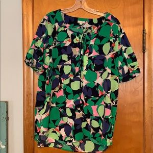 Gap: leafy tunic, great colors!